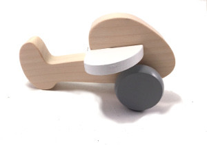 Wooden plane in white/grey