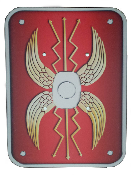 wooden shield, myriad toys, wooden wonders, educational wooden toys,role play scenarios, roman sword