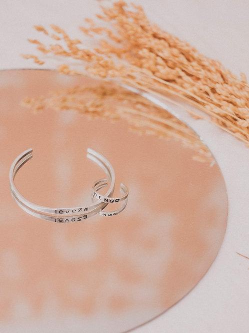 Bracelete Anseios Prata