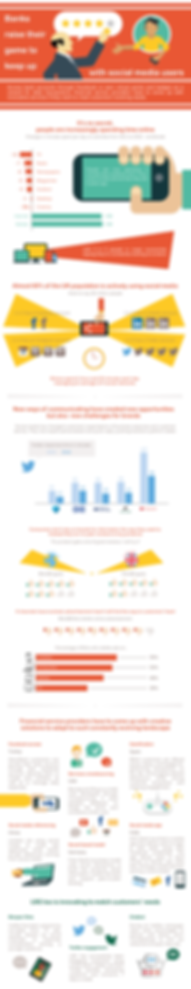 infographic social networks media bank financial service