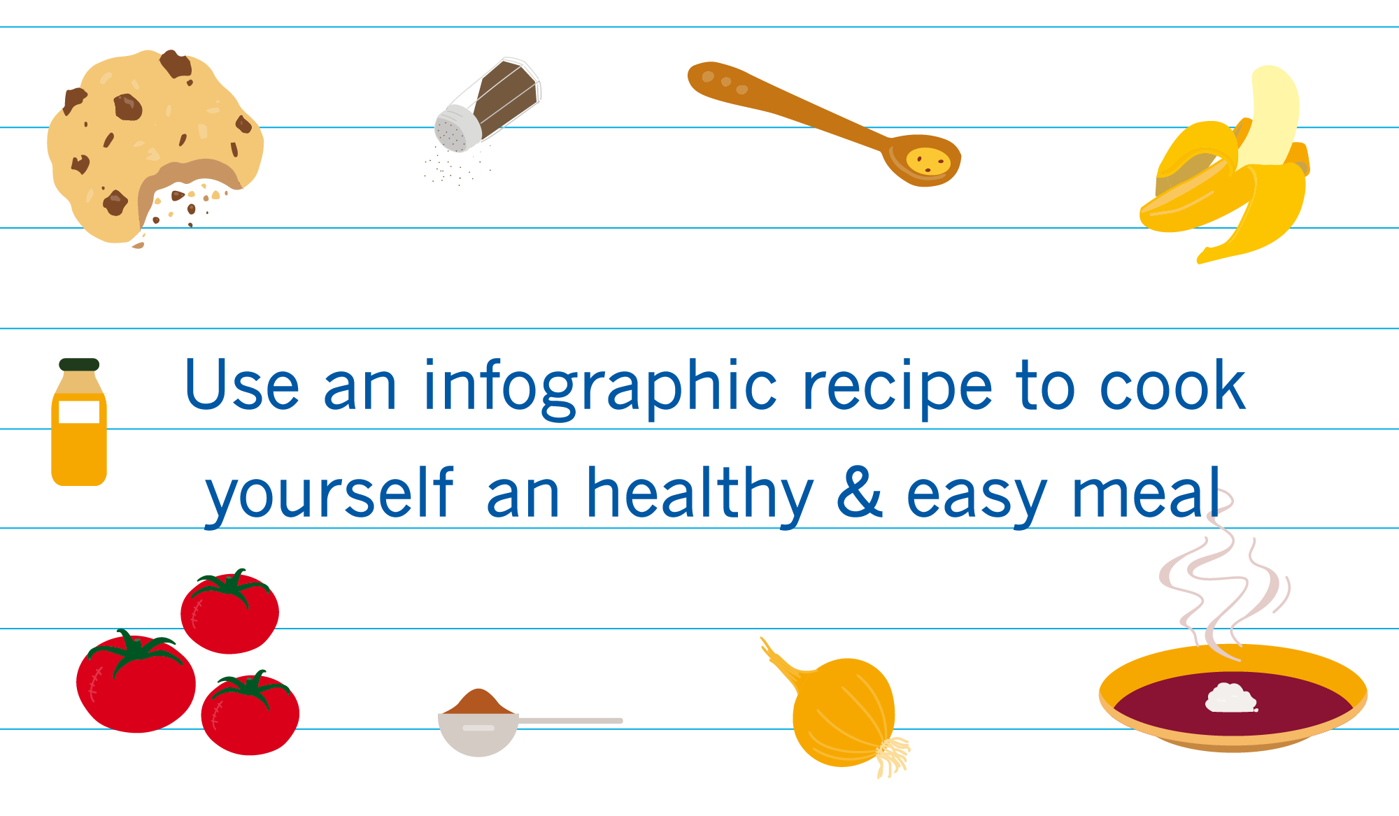 Infographic of healthy recipes
