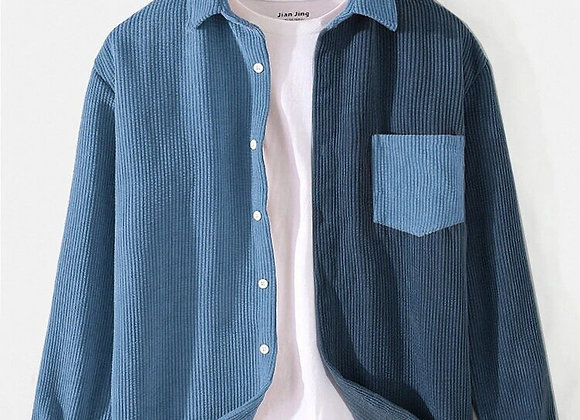 Contrast color casual shirt