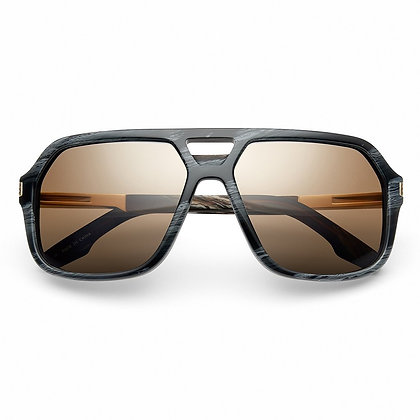 Hunter Polished Double Horn - Gold Sunglasses