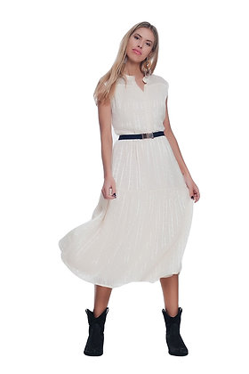 Smock Dress With Tiered Skirt
