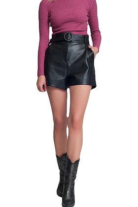 Shorts Black Leather