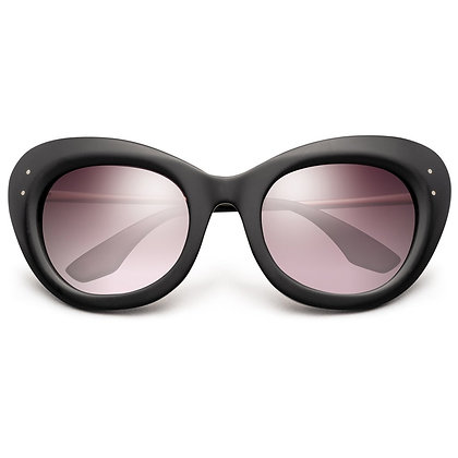 Faye Matte Black - Rose Gold Sunglasses