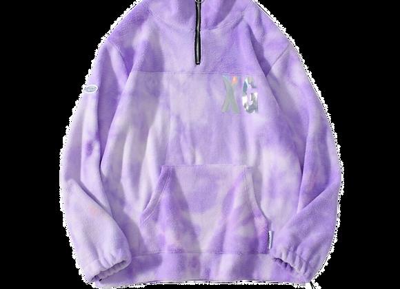 Reflective Tie Dye Fleece Hoodie