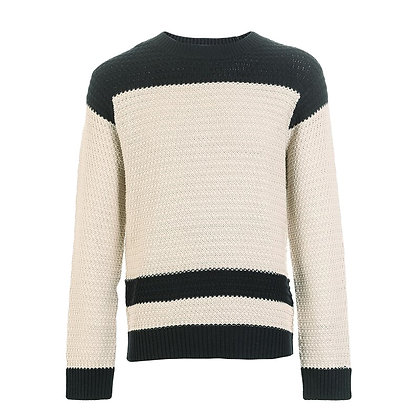 Woven  Straight Fit Sweater