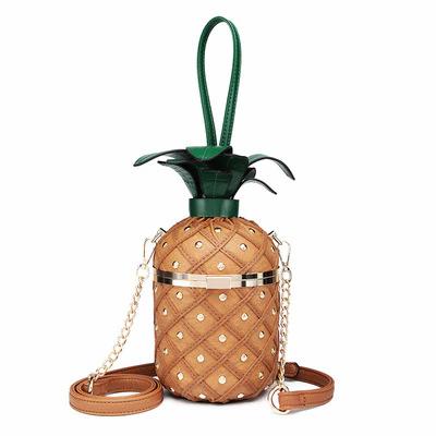 Pineapple X Leather Bag