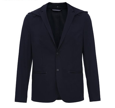 Slim Fit Detachable Hood Suit Jacket