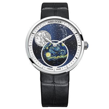 Swiss Moon phase Sapphire Watch