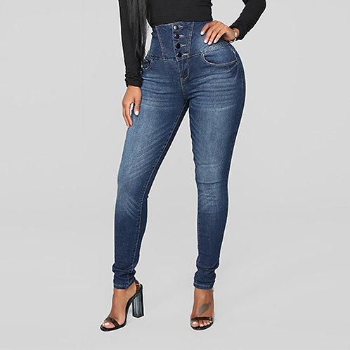 Women's High Waist Stretch Jeans