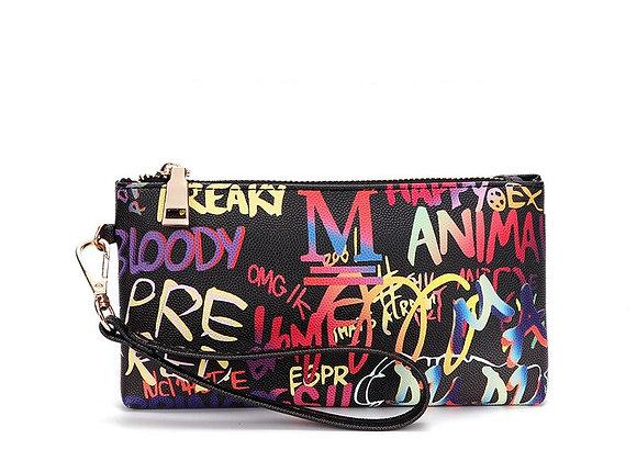 Graffiti clutch wallet