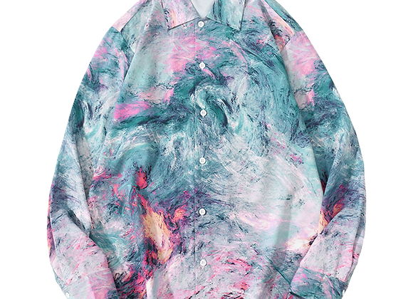 Graffiti printed shirt