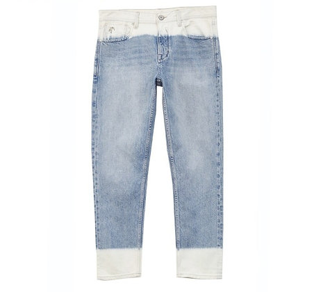 Washed Contrasting Slim Fit  Jeans