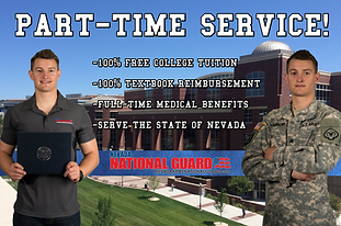 Nevada National Guard Part Time Service