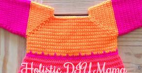 Bright, Zig-Zag Baby Crochet Dress- #Pattern
