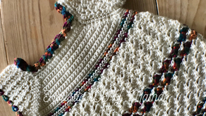 Cream & Rainbow Crochet Dress #pattern
