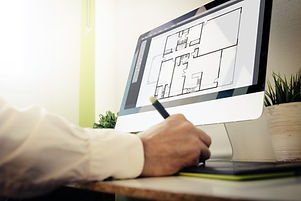 architect designing a house.jpg All screen graphics are made up.jpg