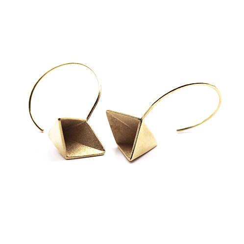 Inside-out circle earrings
