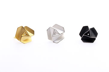 pinwheels that are similar to schematic flowers. Silver rings
