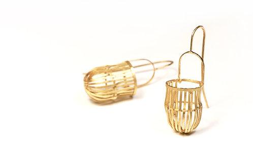 Aborigen Gold earrings - one of a kind - Fairmined 18k gold