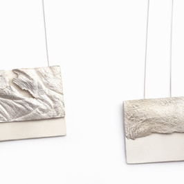 Silver and porcelain necklaces