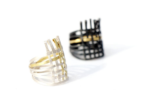 Aborigen Rings - one of a kind - Fairmined silver and gold (18k)