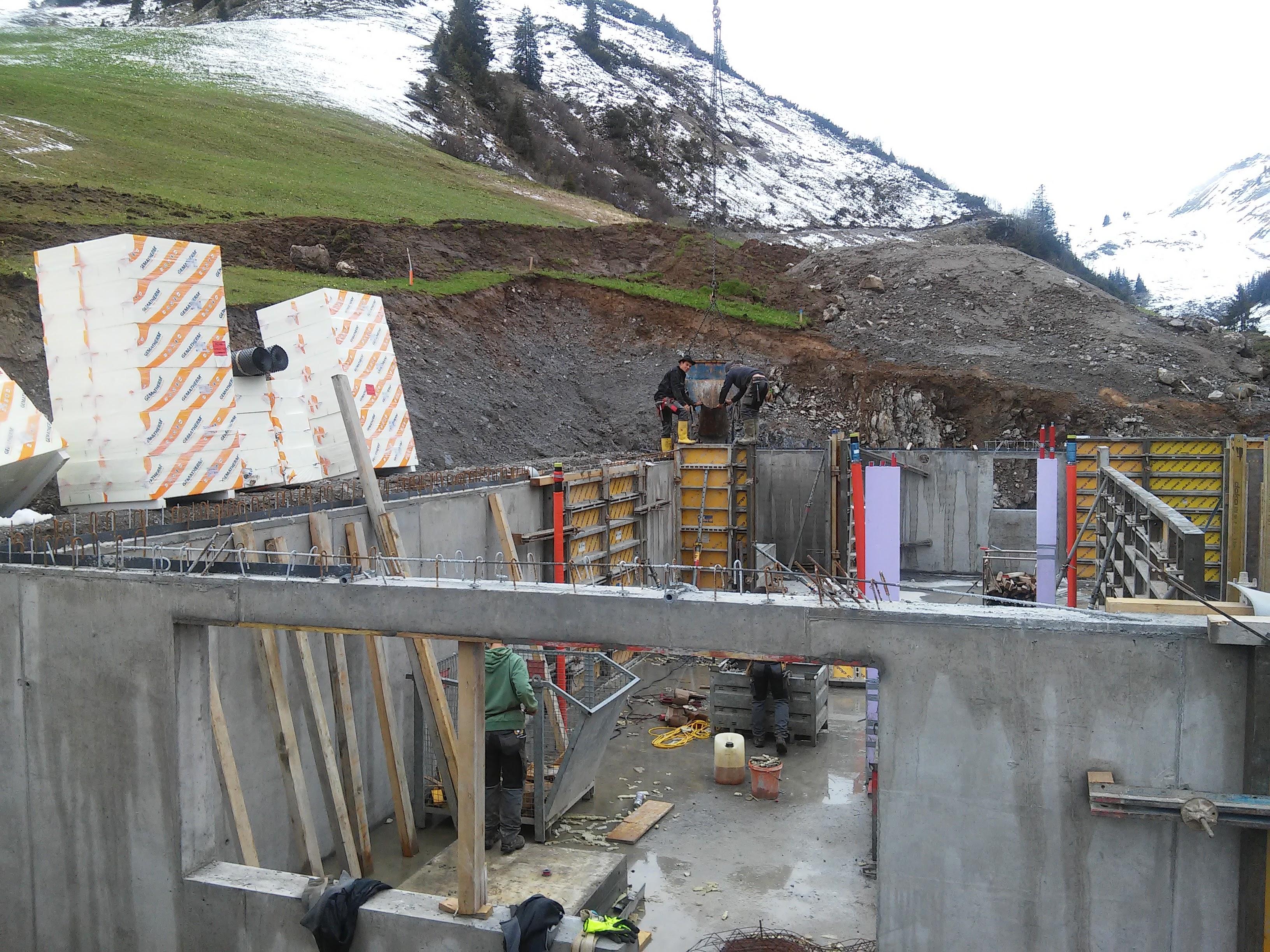 Keller wird betoniert