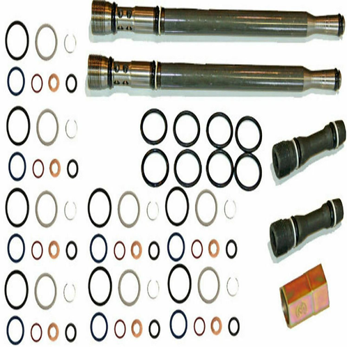 Ford 6.0L Oil Rail Repair Kit Tool O-rings + Plugs + pass tubes + Injector Seals