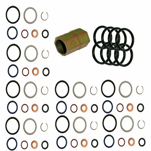 Ford 6.0L Powerstroke Oil Rail Leak Repair Kit,Tool,O-rings + Injector Seal Kits