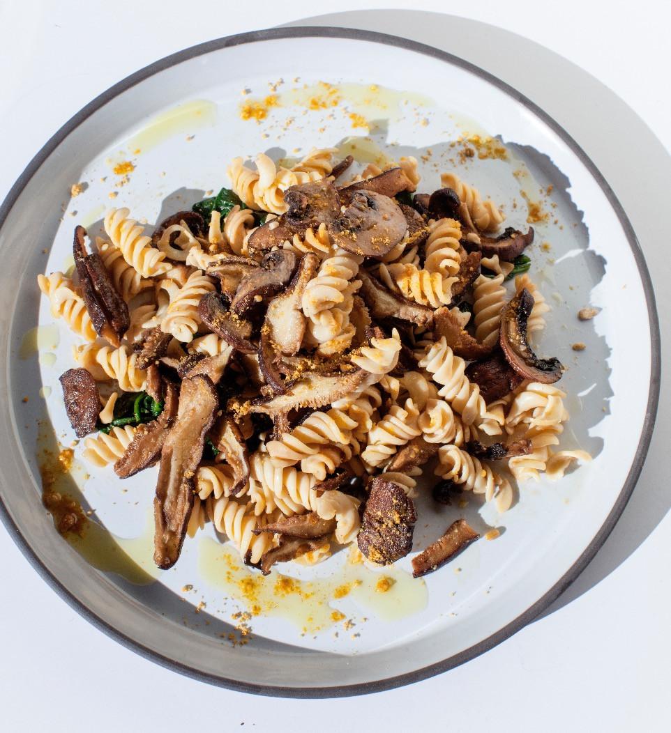 Wild mushroom truffle pasta