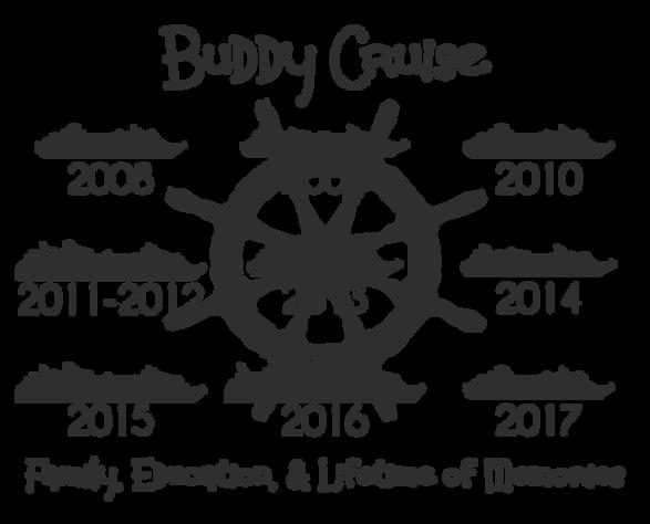 2017 Buddy Cruise Repeat Cruisers Shirt Design