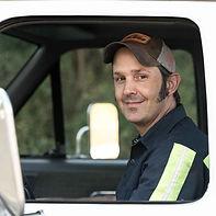 Miles Hubert tow truck operator