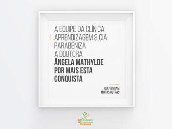 Aprendizagem & Cia homenageia a profissional Ângela Mathylde