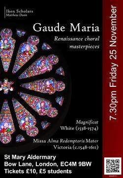 161125 Gaude Maria Poster FINAL