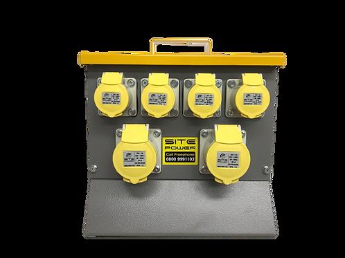 110 Volt MCB Protected Distribution Box 2x32A & 4x16A sockets - 32A Input Plug