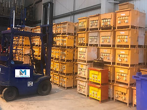 blakley transfomers stacked up for refurbishment