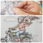 Auf dem Motorrad