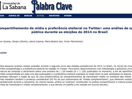 Compartilhamento de mídia e preferência eleitoral no Twitter, no segundo turno de 2014