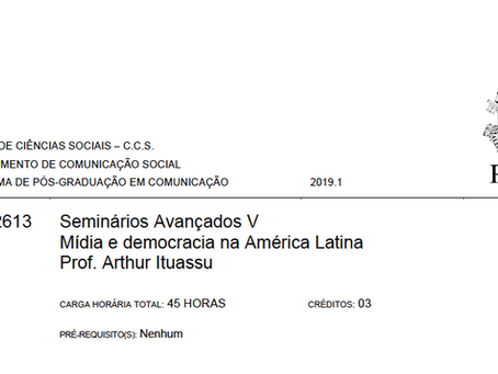 Curso: Mídia e democracia na América Latina