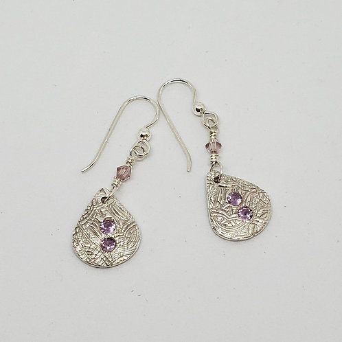 Delicate Silver and Lavendar Earrings