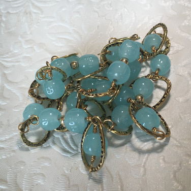 Miriam Haskell blue and gold necklace.jp