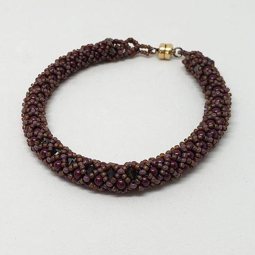 Definitely Purple Swarovski Pearl Bracelet