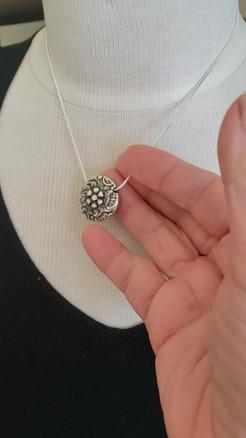 1 of 4 Silver Lentil Pendants