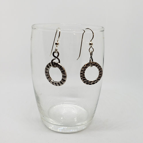 Silver Double Sided Circle Earrings
