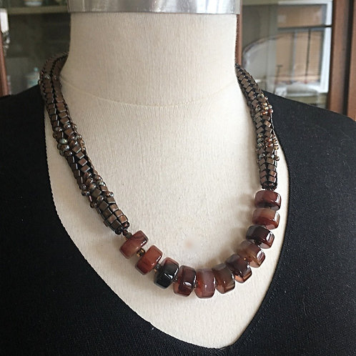 Bold Carnelian 21 Inch Necklace