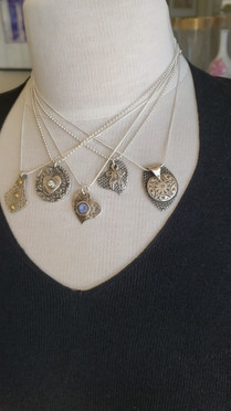 Medly of Silver Pendants