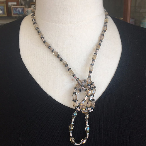 Very Long Vintage Beaded Necklace