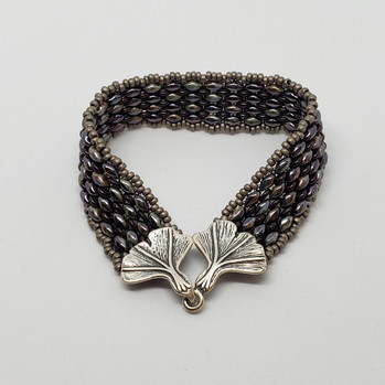 Purple and Taupe - A Classy Bracelet